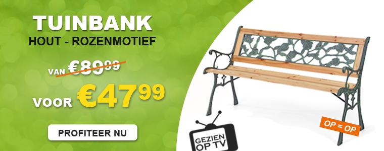 Op TV - Gardenbench