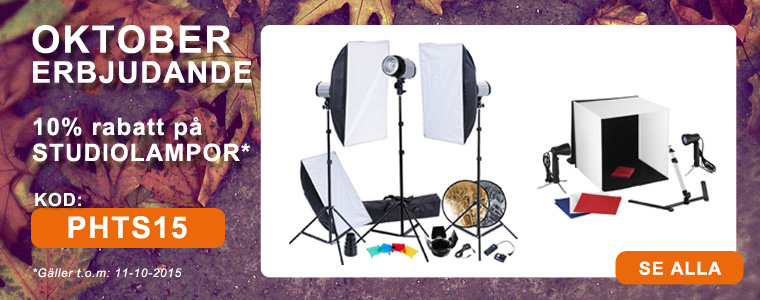 October offer studio lights