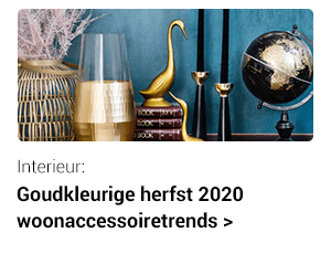 Fall 2020: Gold-colored home decor trends