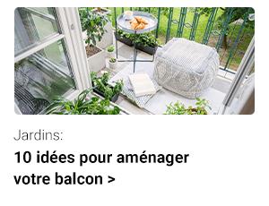 10 idées pour décorer votre balcon