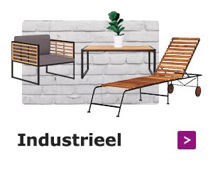 Moderne industriële tuinmeubelen